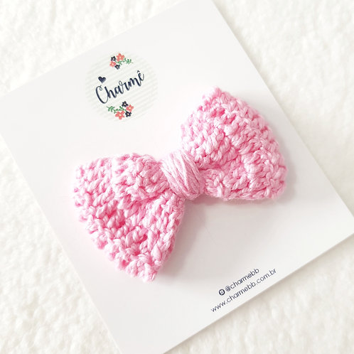 Laço Crochê Rosa