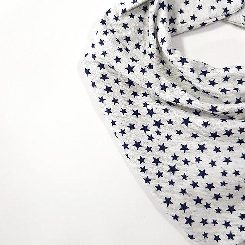 Bandana Estrelas Branco Mescla e Marinho