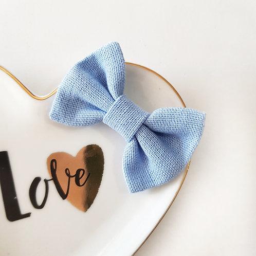 Laço Butterfly P Linho Azul