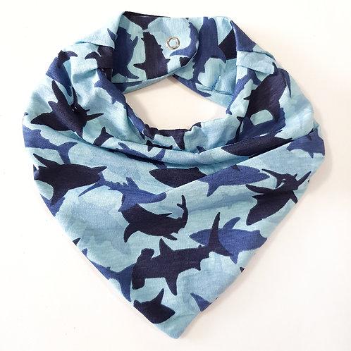 Bandana Camuflado Tubarões Azul
