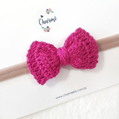 Laço Crochê Pink