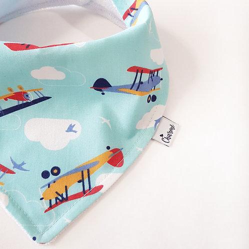 Bandana Aviões Azul Bebê