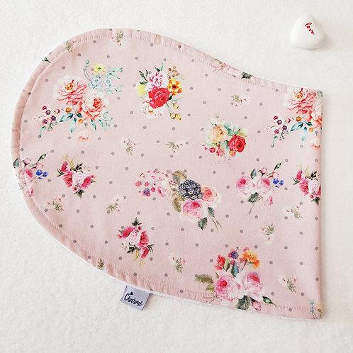 Pano de Ombro Floral Digital Rosa Blush
