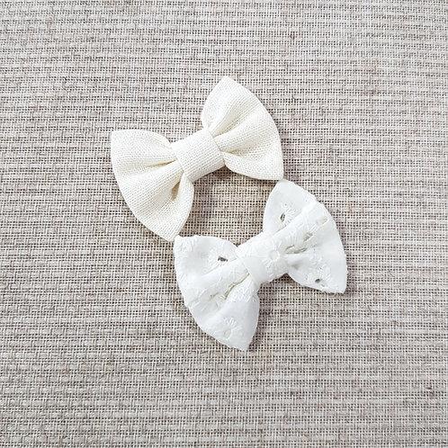 Kit Laços Butterfly P Laise e Linho Off-White