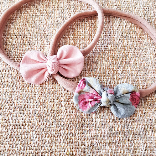 Kit Laços Alice P Rosê + Floral Rosê e Marsala