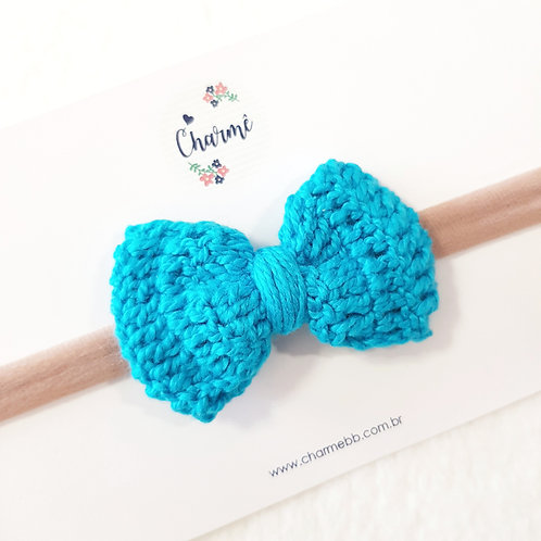 Laço Crochê Azul Capri