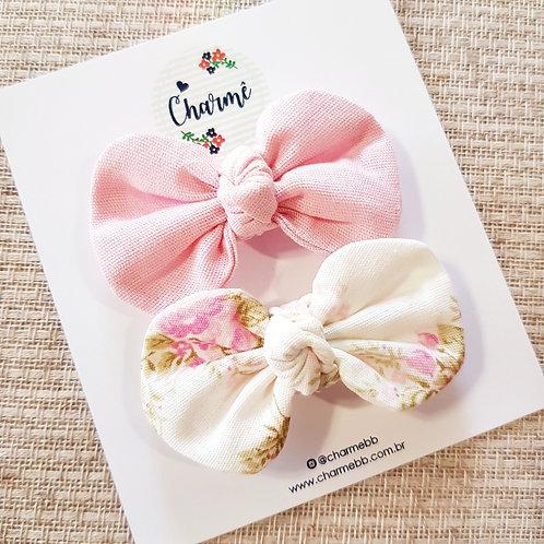 Kit Laços Alice P Rosa + Floral Off-White