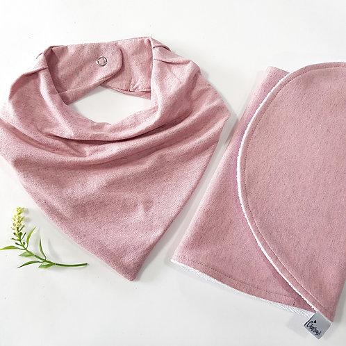Conjunto Bandana + Pano de Ombro Rosa Antigo Mescla