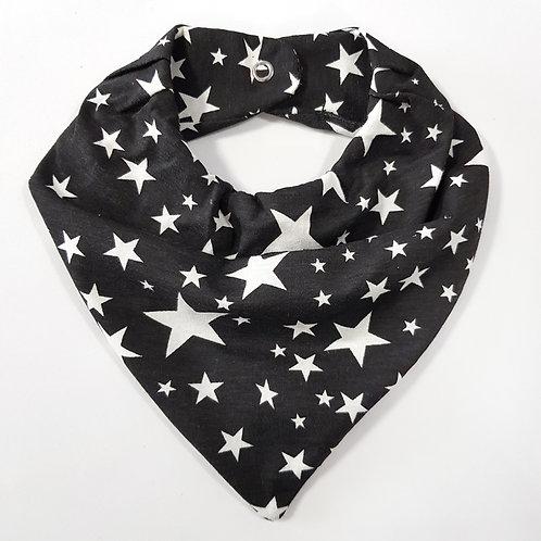 Bandana Estrelas Preto e Off-White