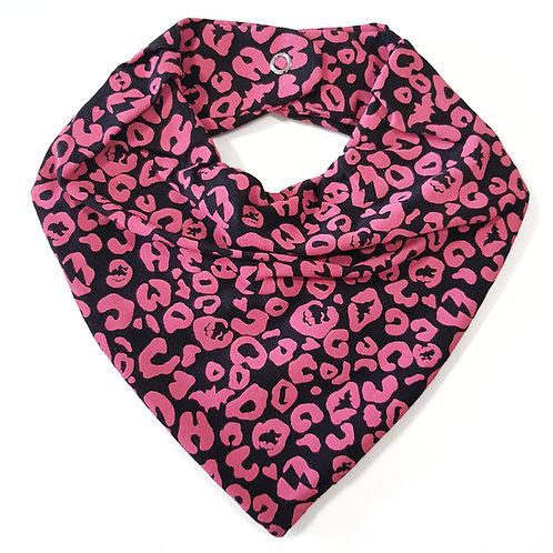 Bandana Animal Print Preto e Pink
