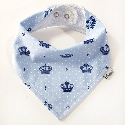 Bandana Coroas Azul Bebê