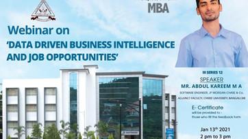 Webinar: Data Driven Business Intelligence & Job Opportunities