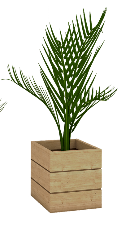 Jardinera cubo en madera