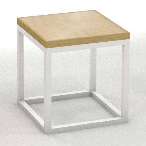 Mesa cubo madera-metal