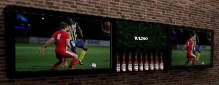 Botellero con televisores