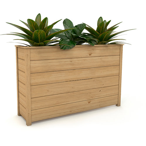 Jardinera alta rectangular en madera