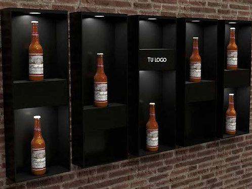 Botellero pared