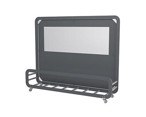 Mampara Siena Maxi pantalla con tejido Olefin. Con base para macetas.