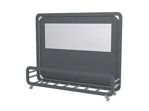 Mampara Siena Maxi pantalla con tejido Olefin. base para macetas.