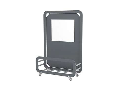 Mampara Siena Mini pantalla tejido olefin con base para macetas.