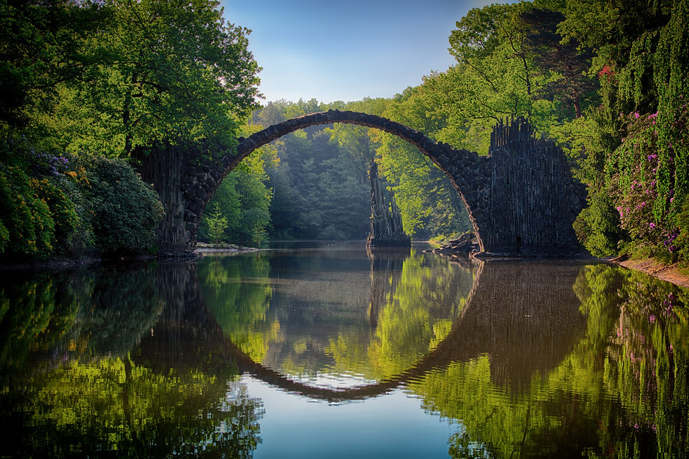 bro vatten stillhet