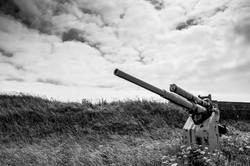 Salvaged gun at Lyness
