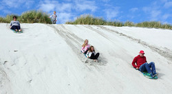 Sand Sledging in Sanday