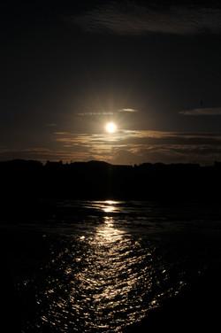 Ray of Sunset Light