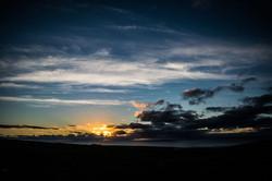 Contrasting Cloud Sunset