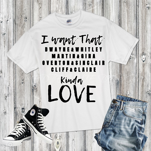 I want that...