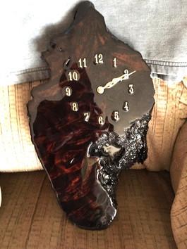 Dark Wood Clock