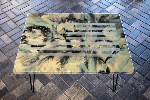 Camouflage Ghosted Flag Table