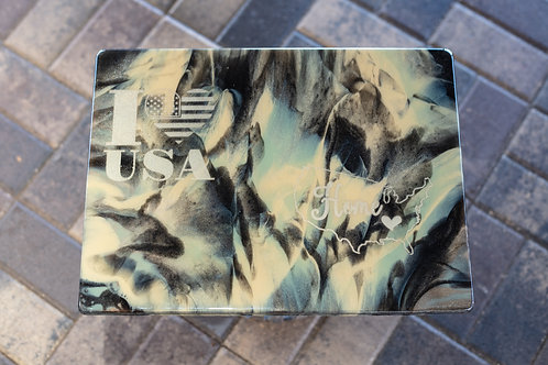 I Heart the USA Camouflage Plaque
