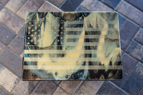 Camouflage Large Flag Plaque