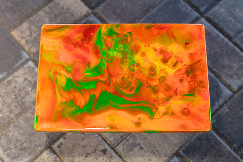 Orange Sunset Plaque