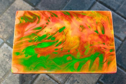 Green & Orange Flame Plaque