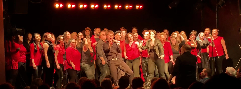 Solo: Gotham Rock Choir Holiday Concert, (in the clip: Dream on by Aerosmith), SoHo Playhouse, NYC