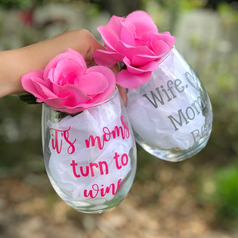 Stemless Wine Glasses for a special Mother