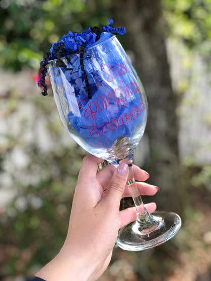 Star Spangled Hammered - White Wine Glass