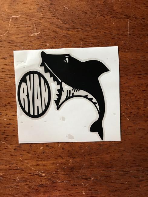 Shark Monogram Tumbler Decal