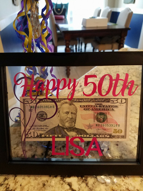 Personalized Picture Frame for 50th Birthday
