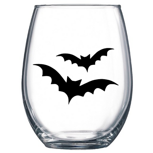 Bats - Stemless Wine Glass