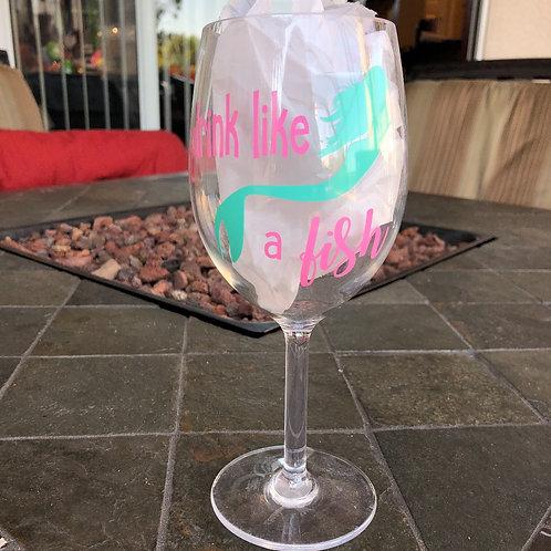 Drink like a Fish Wine Glass