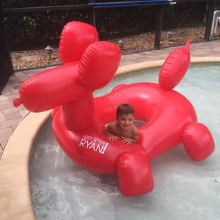 Custom Pool Raft Decal