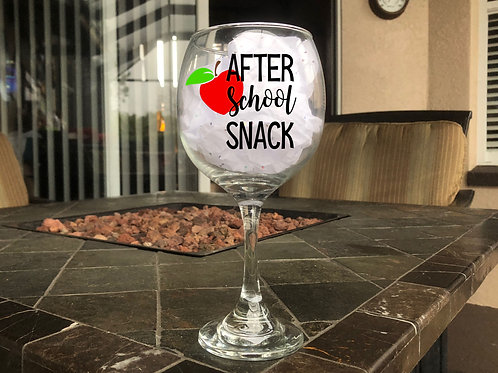 After School Snack - Red Wine Glass