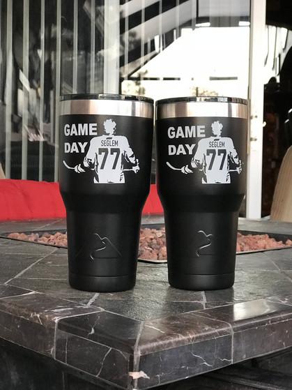 Game Day/Hockey Black Ozark Trail Tumblers