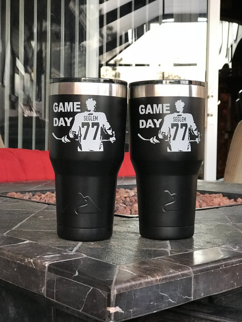 Game Day/Hockey Black Ozark Trail Tumblers