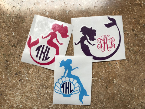 Custom Mermaid Decals