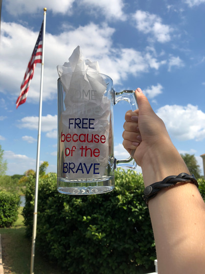 Home of the Free because of the Brave - Beer Mug