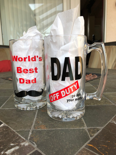 World's Best Dad & Dad Off Duty - Beer Mugs